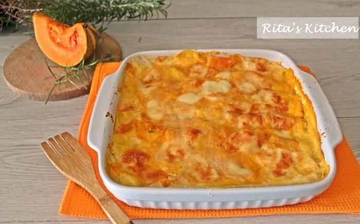 lasagne con zucca e taleggio