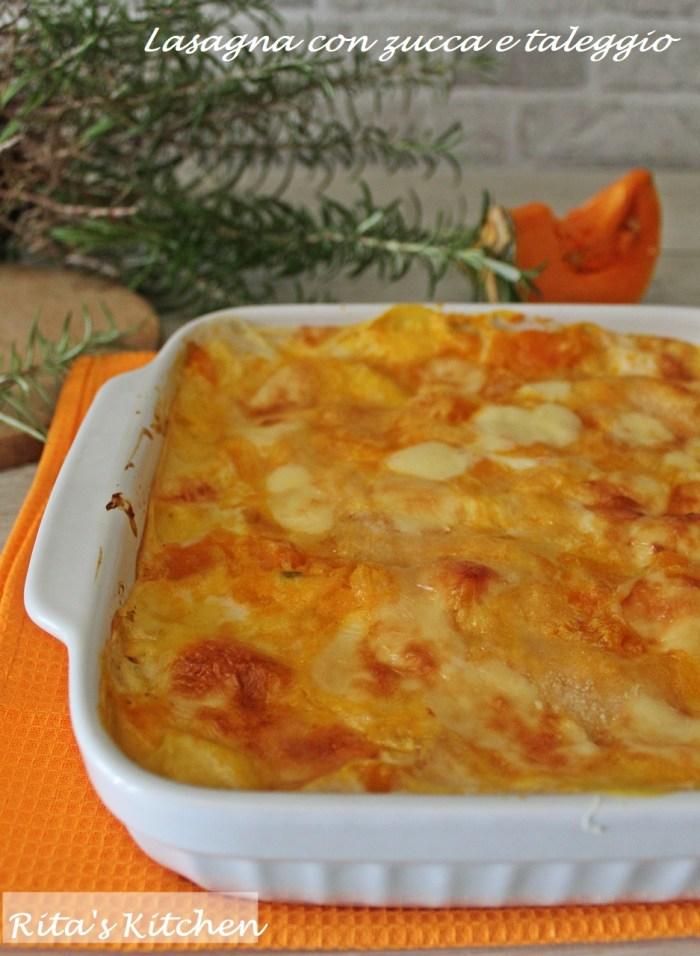 lasagna con zucca e taleggio