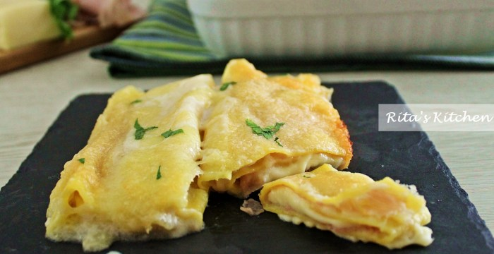 cannelloni di prosciutto e formaggio