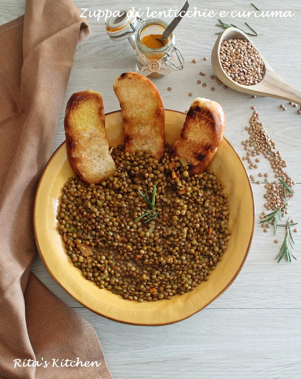 Ricetta Lenticchie Gia Lessate.Zuppa Di Lenticchie E Curcuma Rita S Kitchen