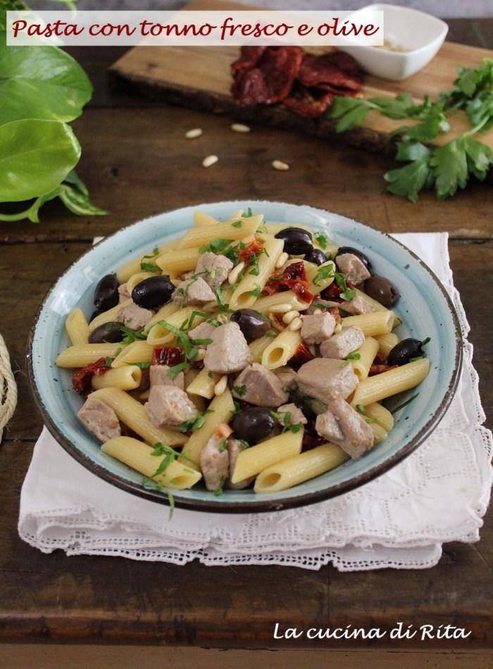 pasta al tonno fresco e olive