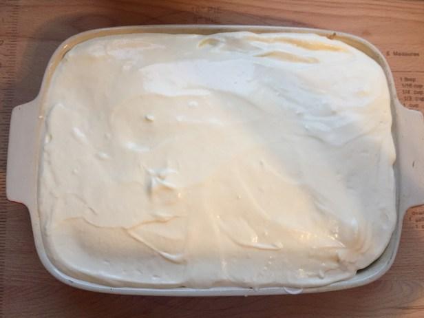 Sweetened condensed milk rum cake