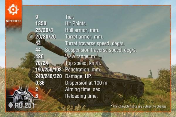 Supertest] Tier IX Light Tank Changes « Status Report