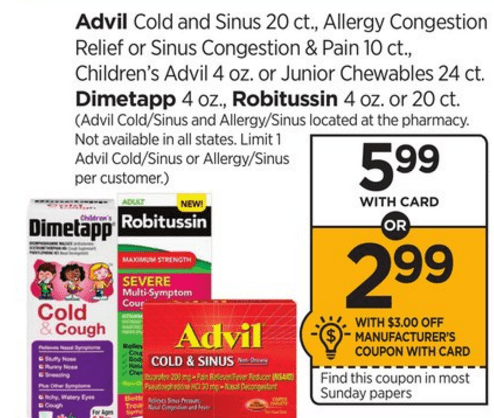 check out this advil deal you can do this week you can get advil cold ...