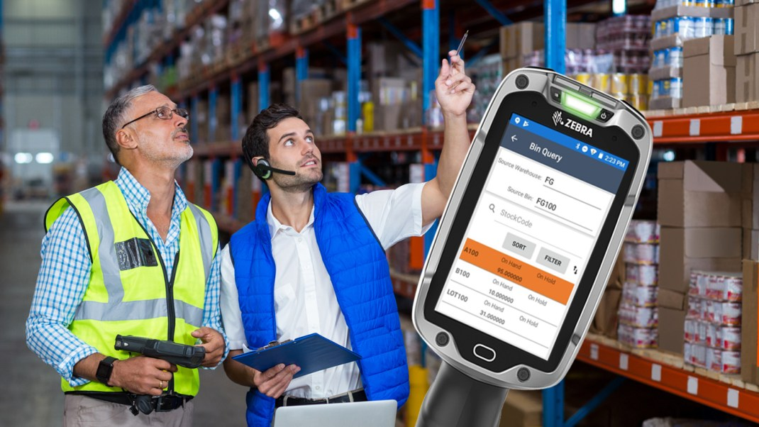 zebra handheld device for warehouse manufacturers