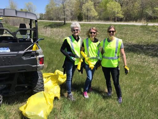Minnesota Adopt a Highway ditch cleanup