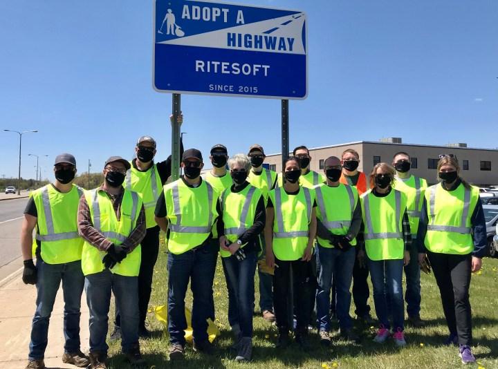 riteSOFT team at ditch cleanup