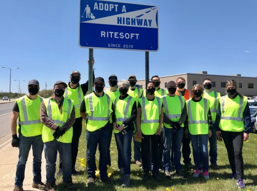 riteSOFT team at ditch cleanup in Waite Park, MN