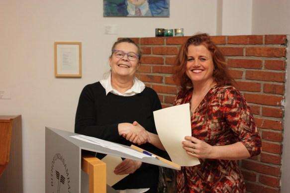 Ingibjörg Steinunn Sverrisdóttir og Kristín Helga Gunnarsdóttir