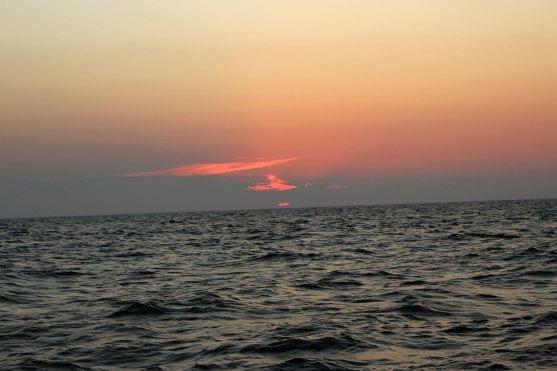 Das hunderste Sonnenuntergangsbild aber die Sonne geht immer anders unter.