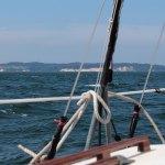 die Kreideküste vom Boot aus gesehen