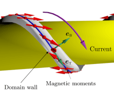 Rashba Torque Driven Domain Wall Motion in Magnetic Helices