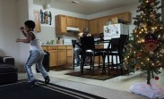 Christopher critiques and times Giovanni while he practices jabs, hooks, and other punches at the Perkins' home. Perkins either shadow boxes, runs, or lifts everyday to train for boxing.