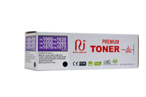 Rite Image Brother TN1000/ TN1030/ TN1050/ TN1060/ TN1070/ TN1075 Premium Compatible Toner Cartridge