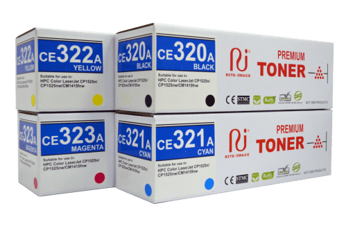 Rite Image 128A (HP CE320A Black/ HP CE321A Cyan/ HP CE322A Yellow/ HP CE323A Magenta) Compatible Toner Cartridge