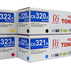 HP Premium Compatible Toner Cartridge 128A ( HP CE320A Black/ HP CE321A Cyan/ HP CE322A Yellow/ HP CE323A Magenta)