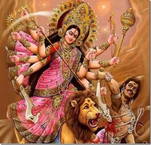 Maa Durga killing Mahishasura