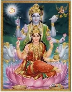 Devi Lakshmi and Lord Vishnu