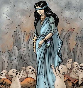 birth-kaurava-gandhari-mahabharat-indian-mythology