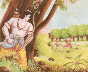 vali-sugriva-rama-the-ramayana-indian-mythology