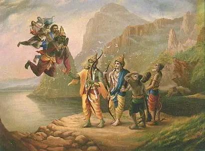 When Rama invoked Brahmastra on Sagar (Sea God)