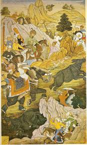 Hunting by Mughal emperor