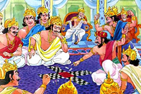 Yudhishthira lost himself and his brothers in the dice game. He also lost Draupadi