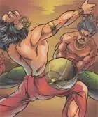 Bhima and Duryodhana - Mahabharata (eighteenth day)