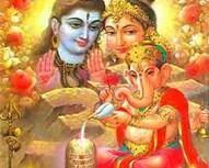 Lord Shiva, Parvati and Ganesha