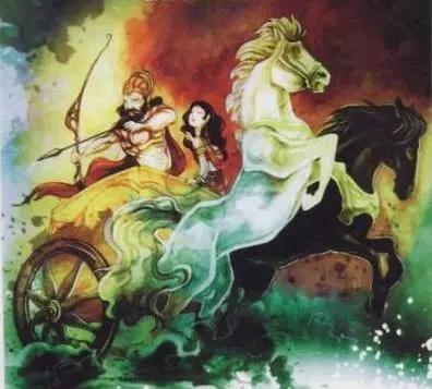 Bhishma abducting Amba for Vichitravirya