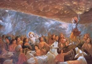 Shri Krishna lifting goverdhan