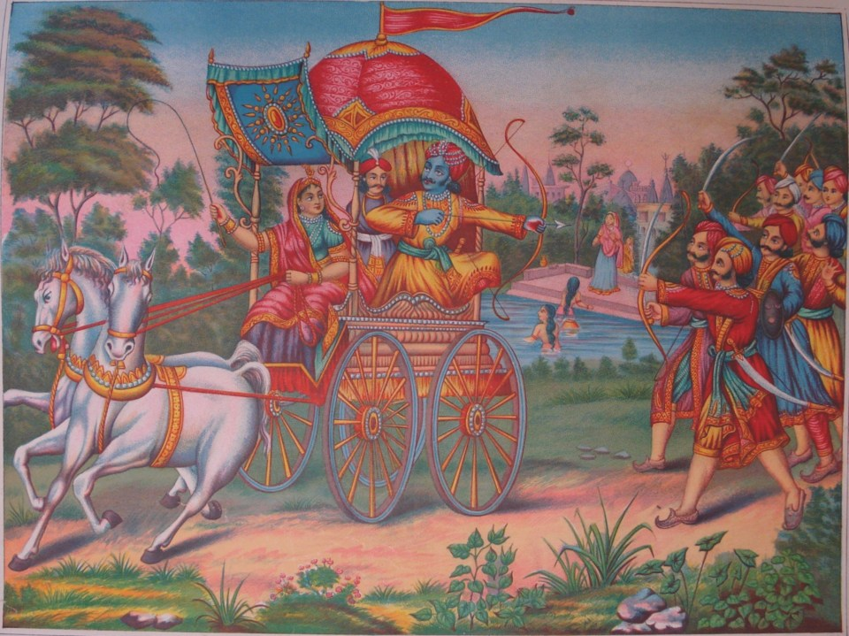 Arjuna and Subhadra