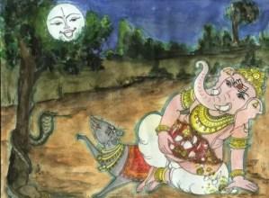 Moon and Ganesha Chaturthi festival