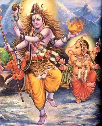 Ganesha and Lord Shiva