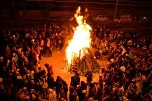 Lohri bonfire