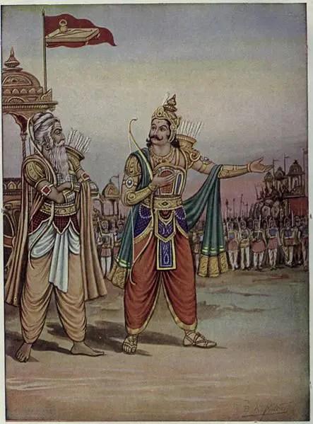 Duryodhana and Drona
