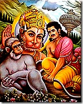 Hanuman shows his true form