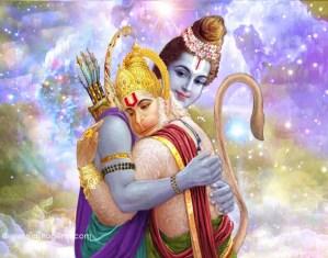 lord Hanuman and Lord Rama