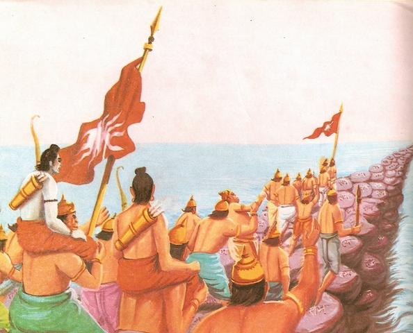 Lord Rama army reaches Lanka