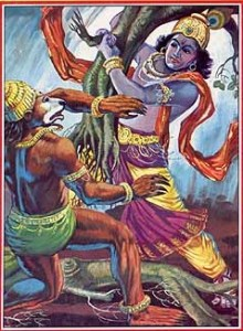 Lord Krishna and Jambavant