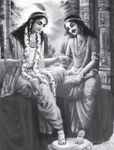 Shri Krishna and Iravan