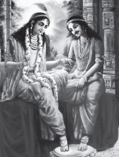 Shri Krishna as a wife to Iravan - Arjuna' son