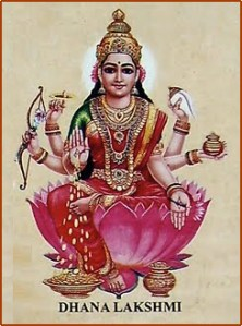 Dhana Lakshmi _ The provider of wealth and prosperity
