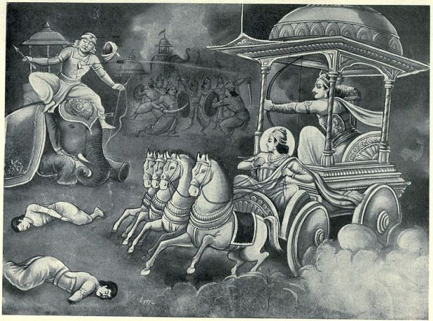 Arjuna kills Bhagaddatta