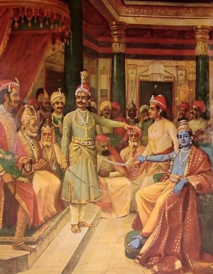 Krishna and Satyaki