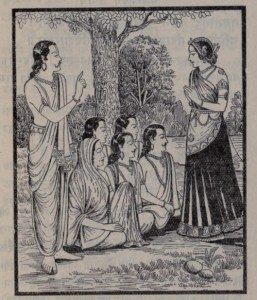 Drupadi and Pandavas
