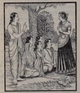 Drupadi and Pandavas