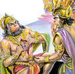 Hanuman with Lord Rama