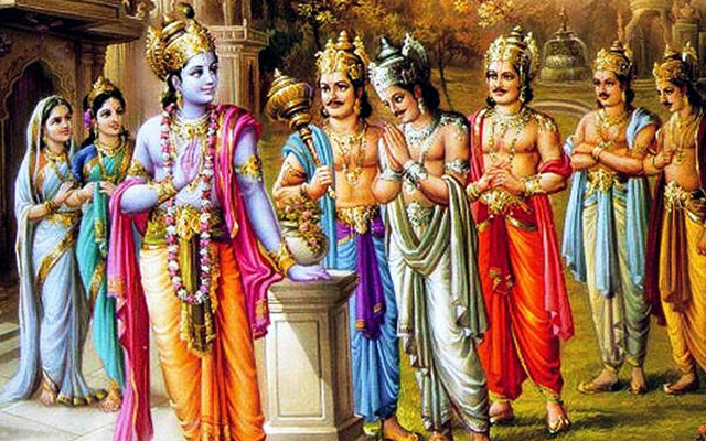 Shri Krishna and Pandavas