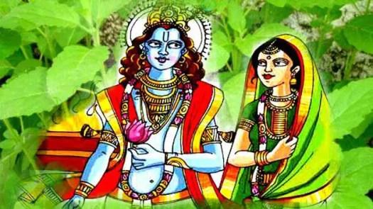 Vishnu and Vrinda